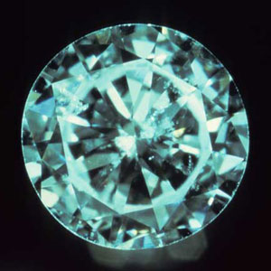 image of a diamond with a fisheye