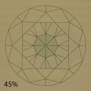 45 percent pavilion