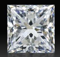 image of a princess cut diamond